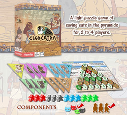 Cleocatra boardgame components display