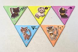 Cleocatra boardgame 5 basic cat tiles