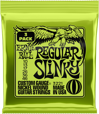 3er Pack Ernie Ball Slinky Nickel Regular