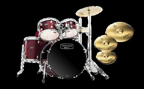 MAPEX Drumset Tornado (inkl. Zildjian Becken)