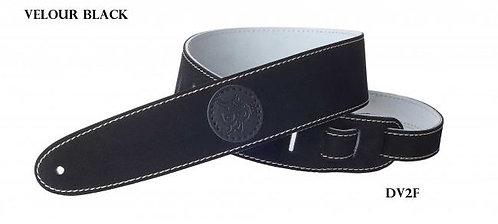 BAYUS Velour-Gitarrengurt DV2F schwarz