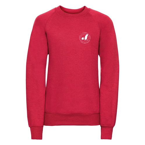 St John's CEP School Uniform - Red Sweatshirt