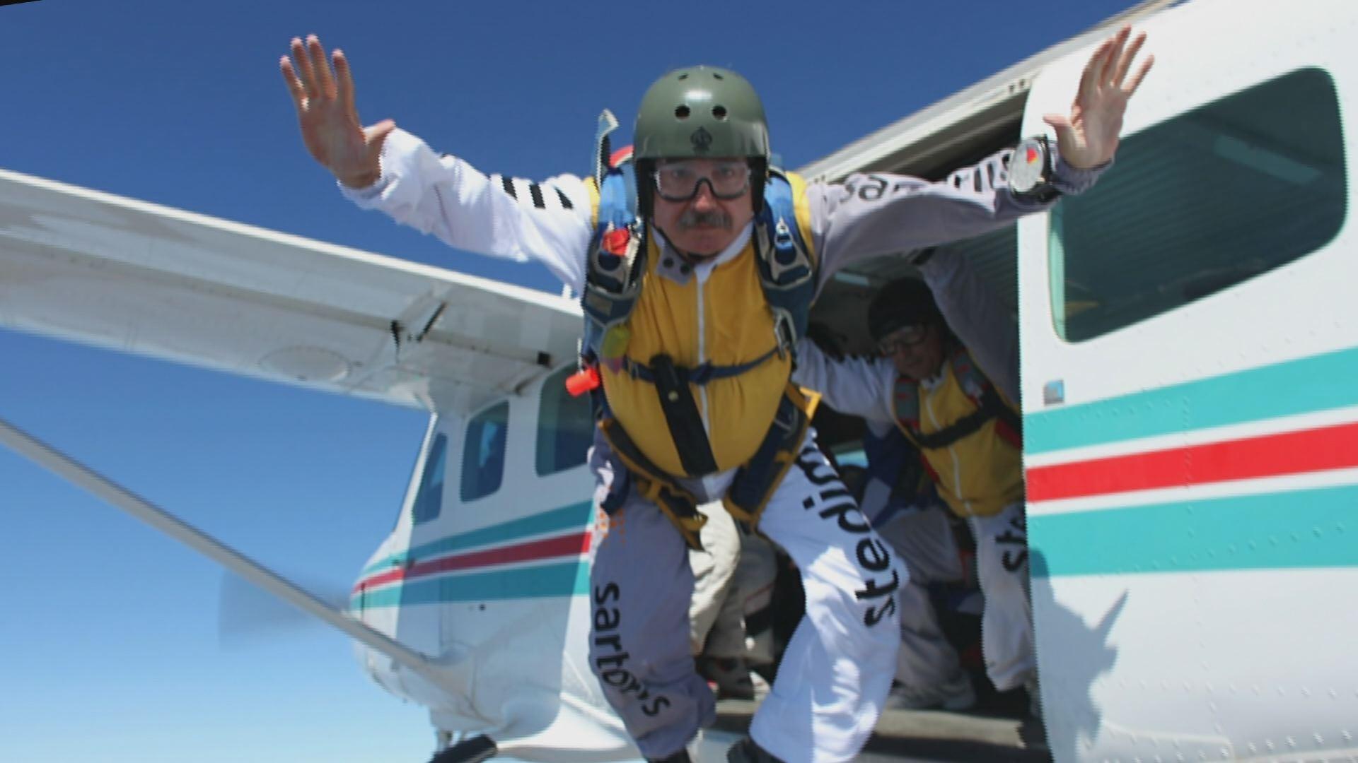 Skydiver Tar Heel Traveler