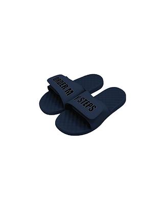 "Navy/Black ""Order My Steps"" Slides"
