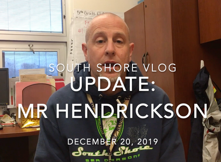 Update from Mr. Hendrickson
