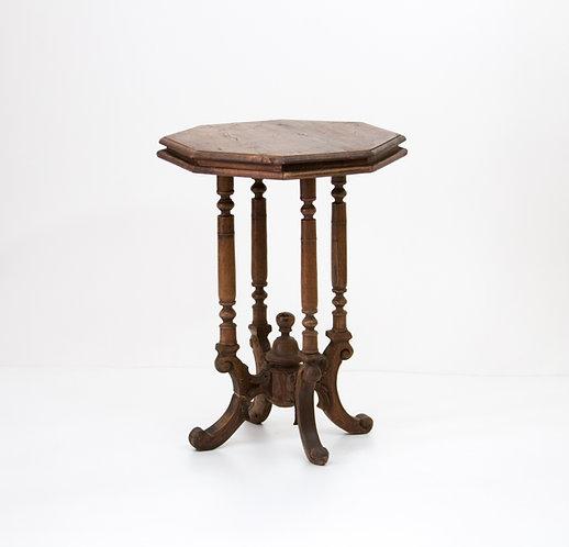 mesa velador antigua teca