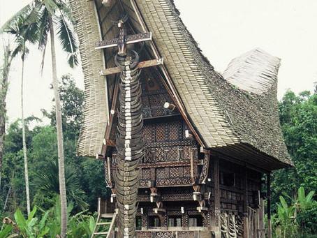 Casas Tongkonan. Sulawesi (Indonesia)