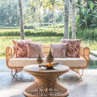 Sofa mesa centro ratan