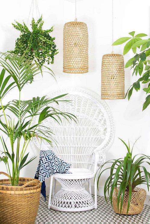 Lámpara Rodas, bambú trenzado