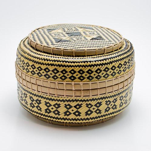 Caja bambú redonda.