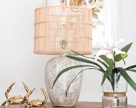Lámpara cerámica Tibor, blanco jaspeado