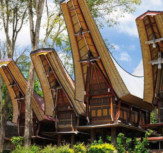 Cubierta de casa Tongkonan