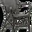 vista parcial de silla rattan y rejilla color negro