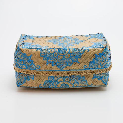 Caja bambú natural-azul lapislázuli.