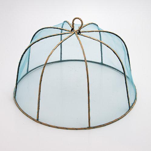 Mosquitera circular azul.