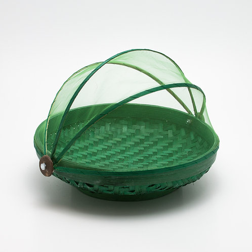 Bandeja mosquitera redonda. Verde