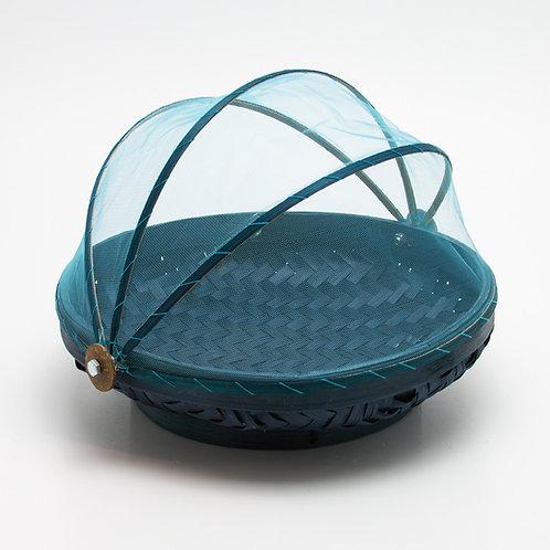 Bandeja mosquitera redonda. Azul