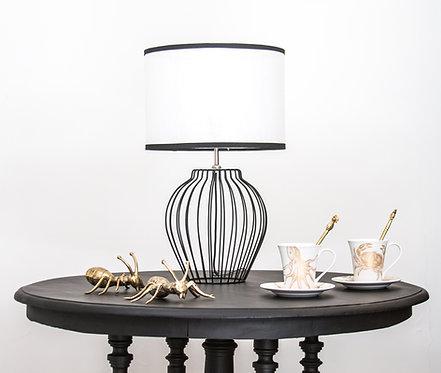 Lámpara metálica Perlis, negra