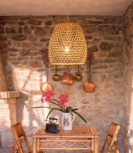 Lámpara Dara, bambú trenzado