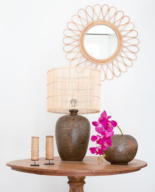 Lámpara cerámica Tibor, marrón oxido.