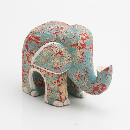 Animales. Elefante. Rojo y gris.