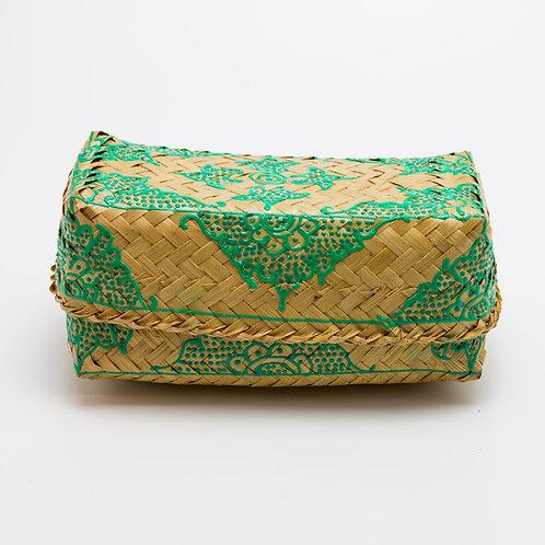 Caja bambú natural-verde.