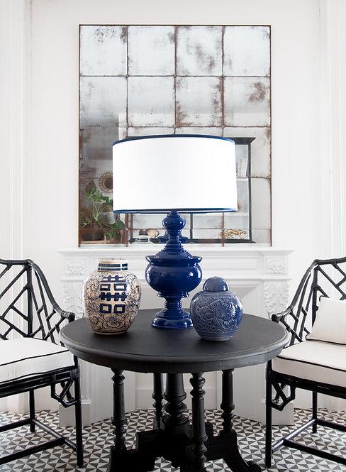 Lámpara pagoda azul cobalto