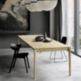 51504 Bok extendable dining table - Oak