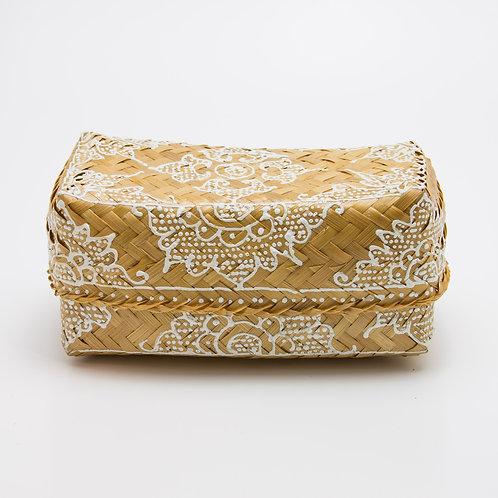 Caja bambú natural-blanca