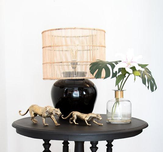Lámpara cerámica Angkor, negra