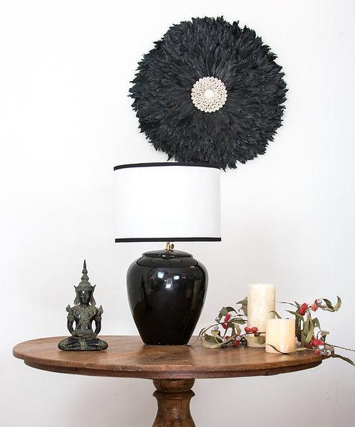Lámpara cerámica Timor /negra