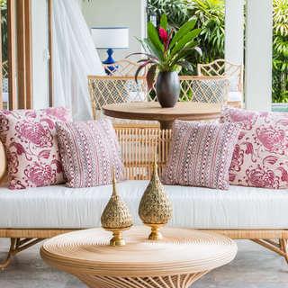 Sofa rattan porche