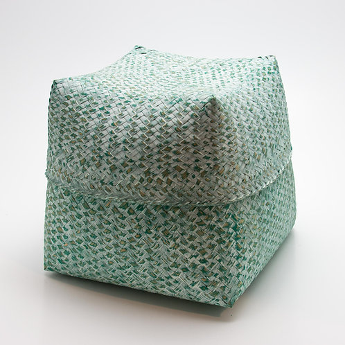 Caja bambú verde lavado