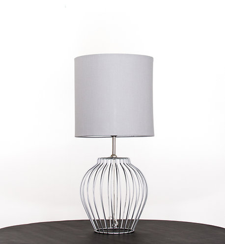 Lámpara metálica Perlis, plata