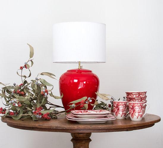 Lámpara cerámica Timor / rojo escarlata