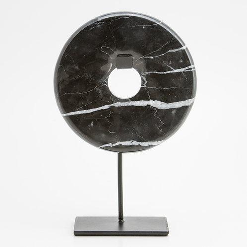 Disco Bi de mármol negro.