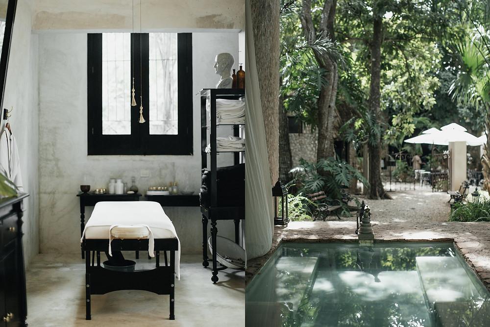 muebles pintados de negro