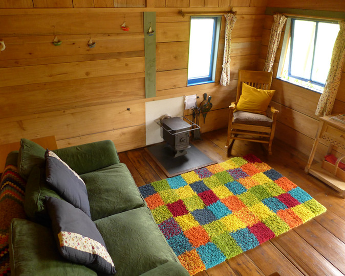 Inside Great Orchard Cabin