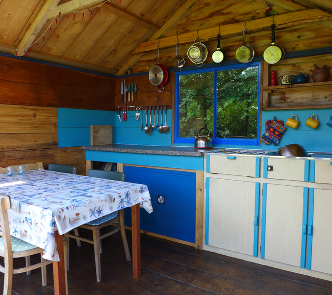 The kitchen hut at Exclusive Too