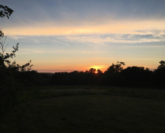 Sunset at Simply Camping