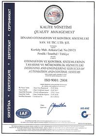 Dinamo Otomasyon ISO 9001