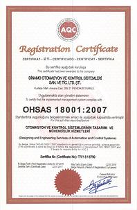 Dinamo Otomasyon OHSAS 18001