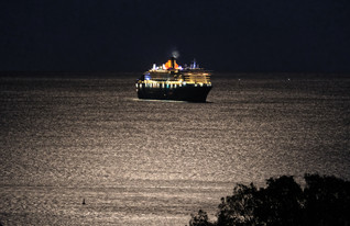 Queen Mary 2 in the Moonlight