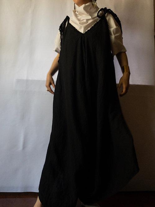 kaval / woven strings salopette pant