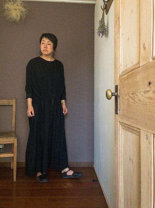kaval /front open long shirt dress button