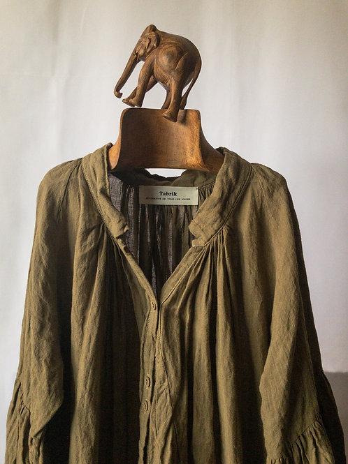 tabrik / gather robe (khaki)