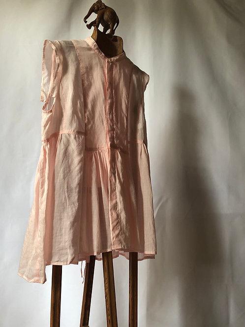suzuki takayuki / band-sleeve blouse (pink)