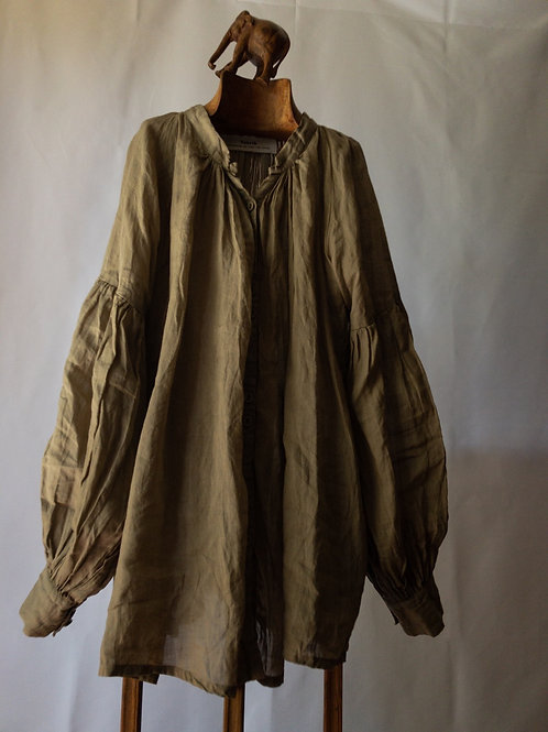 tabrik / back pleats blouse (khaki)