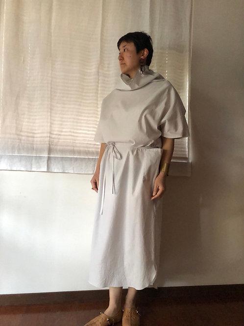 humoresque / off turtle dress (ice gray)