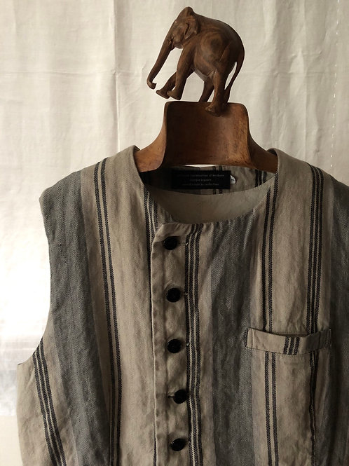 garment reproduction of workers / 1895 bourgeron vest (stripe)
